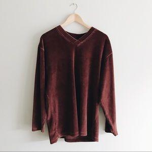 ➰ vintage velvet sweatshirt ➰